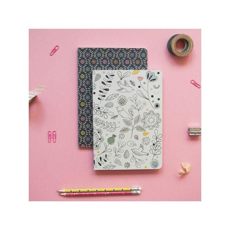 Cahier pages blanches motif croquis - Création exclusive les 10 ans de Mini Labo. Mini Labo + Atomic Soda