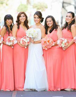 Long Pink Wedding Dresses