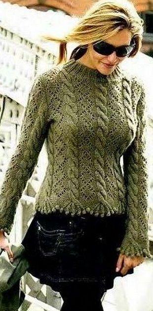 Подборочка моделек:кардиган, свитер, шаль;) - Вязание спицами - Страна Мам