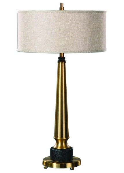 Elegantly tall and effortlessly stylish, the aptly-named Monroe table lamp brings a touch of old Hollywood glamour and glitz to any decor with its gentle lines and golden sheen.