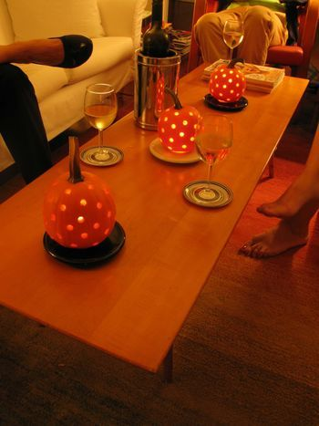 Carved Pumpkins as Centerpiece