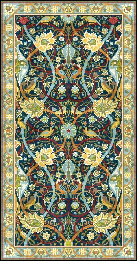 Bullerswood rug or carpet design by William Morris