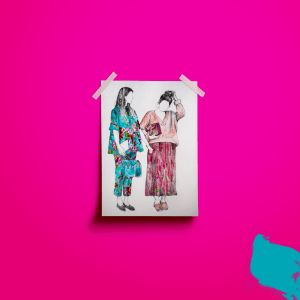 A3-Poster-Mockup- Fashion Illustration Gucci Babes Print