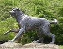 The Huntaway is an intelligent sheepdog. The village of Hunterville, Rangitikei, New Zealand pays tribute to the dog who has worked with shepherds in the rural districts.
