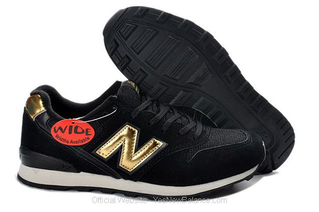 Women's New Balance WR996CJ - Black / Metallic Gold
