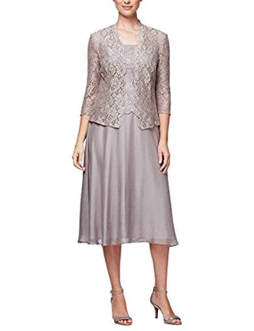fbebf92023a Women s Sequin Lace Mock Dress