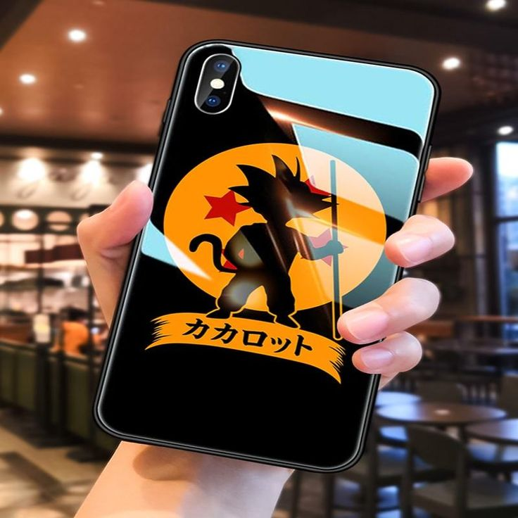 Dragon ball theme tempered glass apple iphone case 6 7