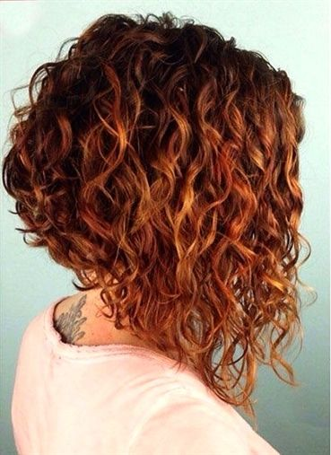 Inverted Curly Bob Short Curly Hairstyles For Women