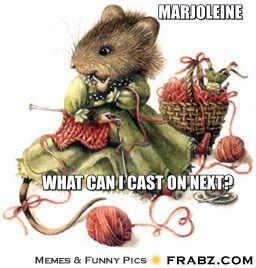Marjoleine... - Plotting my next cast-on Meme Generator Captionator