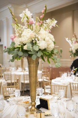 @palomablancawed Real Bride Wedding Centerpiece - tall-wedding-centerpieces-washington-dc-wedding-Nicholas-Griner
