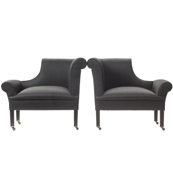 pair of asymmetrical napoleon chairs in the edwardian style - edwin lutyens - england - 1980s