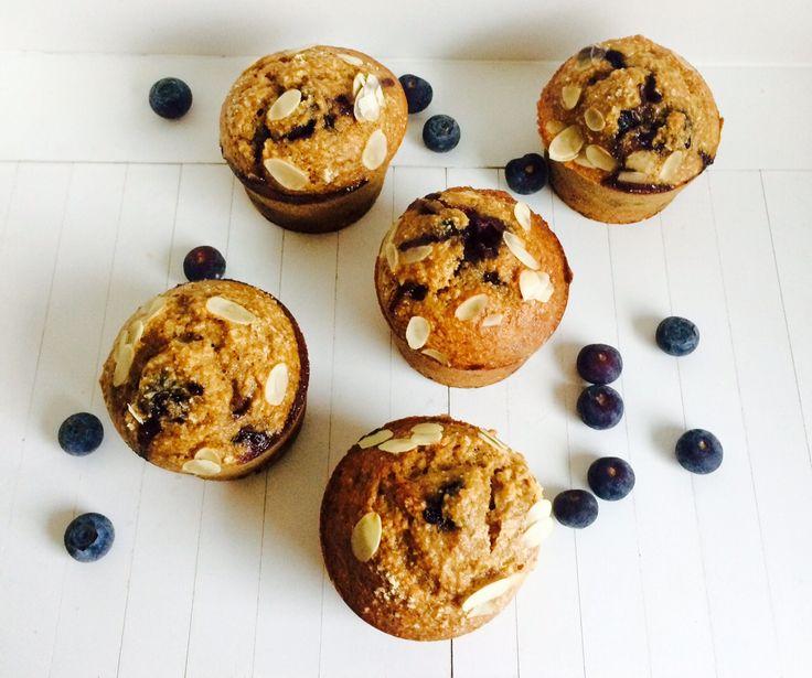 gezonde blueberry muffins van amandel en kokos - de Meisjes van de Moestuin