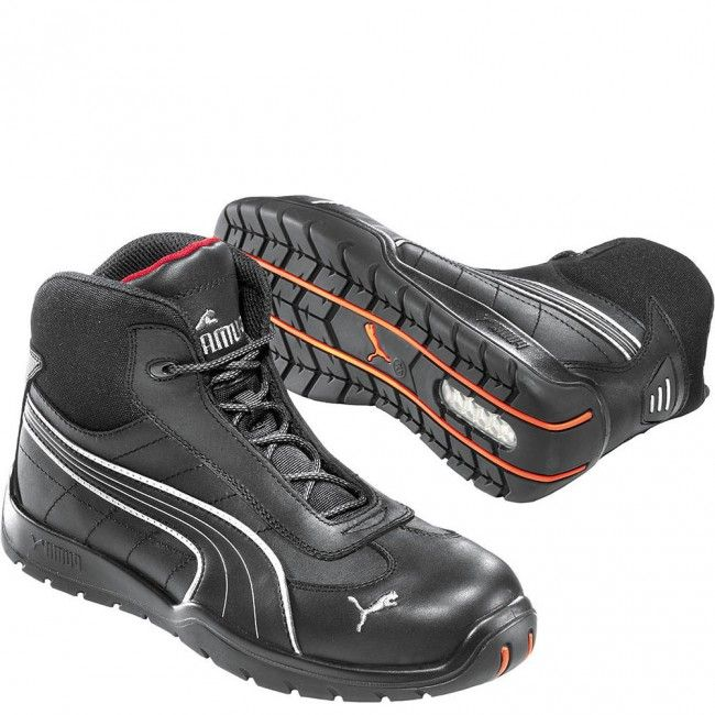 632165 Puma Mens Daytona Mid Safety Shoes  Black wwwbootbaycom