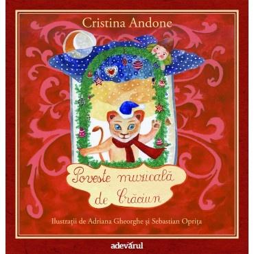 Poveste muzicala de Craciun - Carte + CD; Cristina Andone, Adriana Gheorghe, Sebastian Oprita; Varsta: 3+; Povestea de Crăciun urmărește aventurile leului lui Beethoven, Ludwig. Fiind la primul său Crăciun, acesta încearcă să salveze Pădurea Muzicală de moșul cel abil care se furișează pe horn cu sacul în mână și apoi fuge cu niște reni rapizi. Descurajat, Moșul îl însărcinează pe elful Solfegio să împartă cadourile. Doar că acest ajutor are un mic secret...