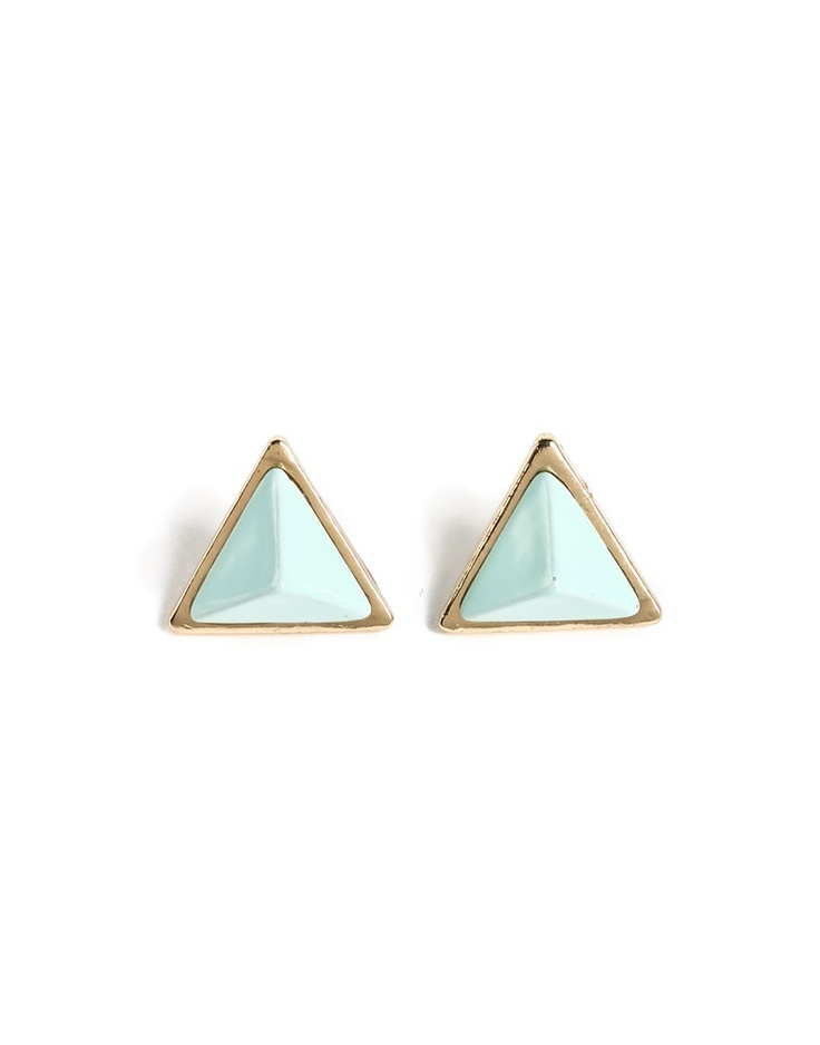 pastel triangle studs