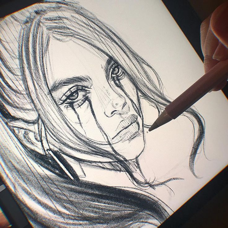 Ive been out all day buying christmas presents so I had no time to start a new drawing but I wanted to practice anyway so I did this sketch of Billie Eilish ( @wherearetheavocados ). Are you ready for christmas? Swipe for the timelapse I used my personal sketchbrush Its completely free on my gumroad. You can find the link in my bio in my shop highlight or under gumroad.com/heymaryjean #digitalart #art #drawing #artist #artwork #artlovers #artoftheday #painting #paint #sketch #sketching #ipad #ipadpro #procreate #art #illustration #draw #heymaryjean #sketchbook #eyes #speedpaint #tutorial #makeup #billieeilish #billie