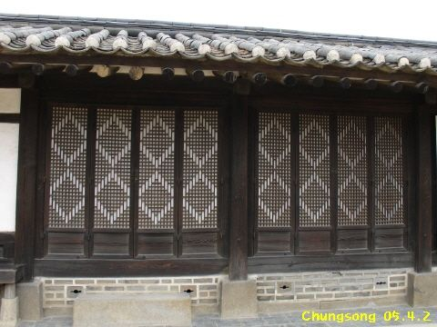 windows of hanok, korean house