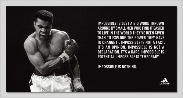 Impossible Is Nothing Quote Brilliant Impossible Is Just An Excuse  Professorramos