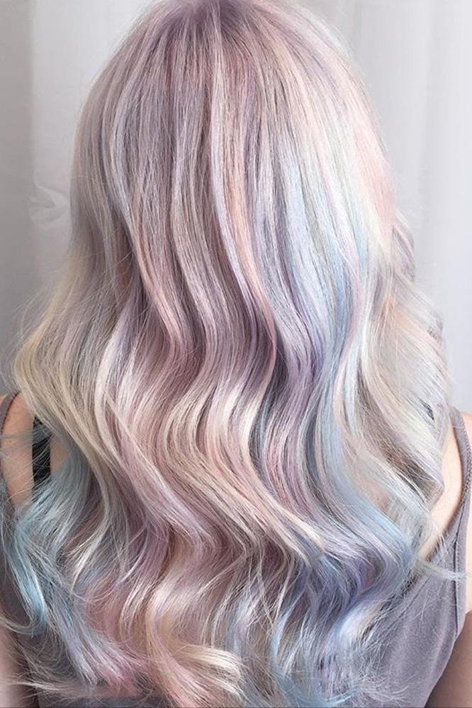 Opal hair is the new unicorn hair #hairtrend #opalhair