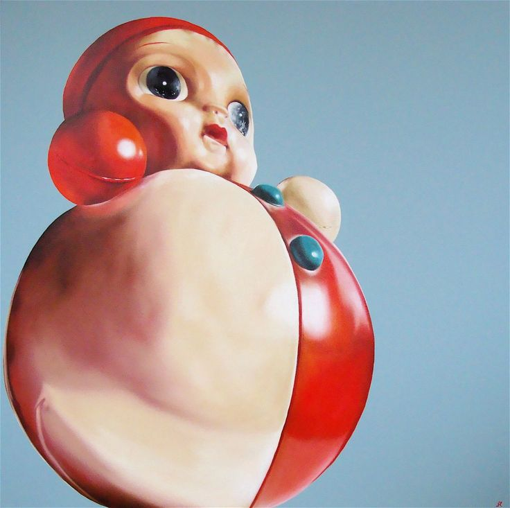 Heather Millar - Bouncing baby ball Oil on canvas