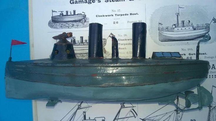 Carette 1903 clockwork torpedo boat works battleship bing Germany