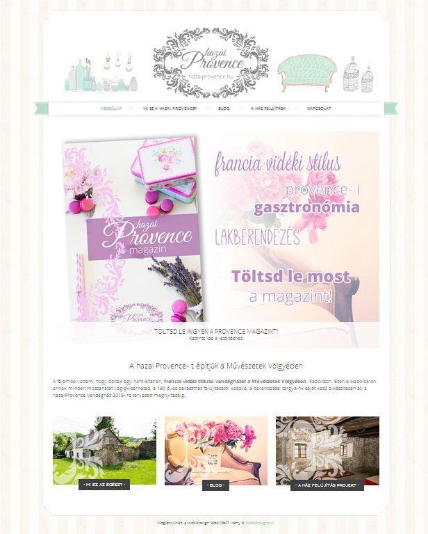 hazai Provence weboldal www.hazaiprovence.hu