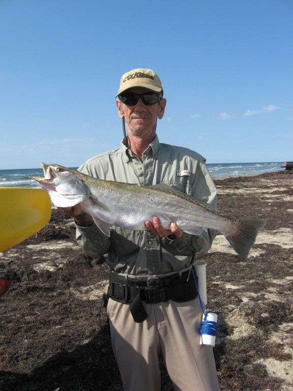 Surf wade fishing along the san luis pass area 7 pound for Saltwater wade fishing gear