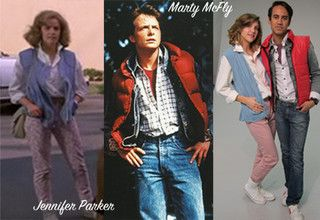 Marty McFly and Jennifer Parker!