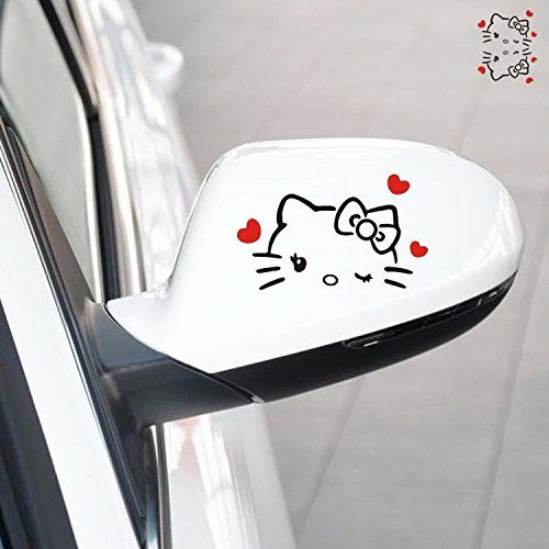 A Pair Black Hello Kitty Cat Wink Red Heart Rearview Side Mirror Random Body Wall Decals Car Stickers - http://www.caraccessoriesonlinemarket.com/a-pair-black-hello-kitty-cat-wink-red-heart-rearview-side-mirror-random-body-wall-decals-car-stickers/  #Black, #Body, #Decals, #Heart, #Hello, #Kitty, #Mirror, #Pair, #Random, #Rearview, #Side, #Stickers, #Wall, #Wink #Hello-Kitty