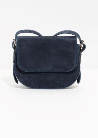 & Other Stories image 1 of Suede Crossover Bag  in Blue