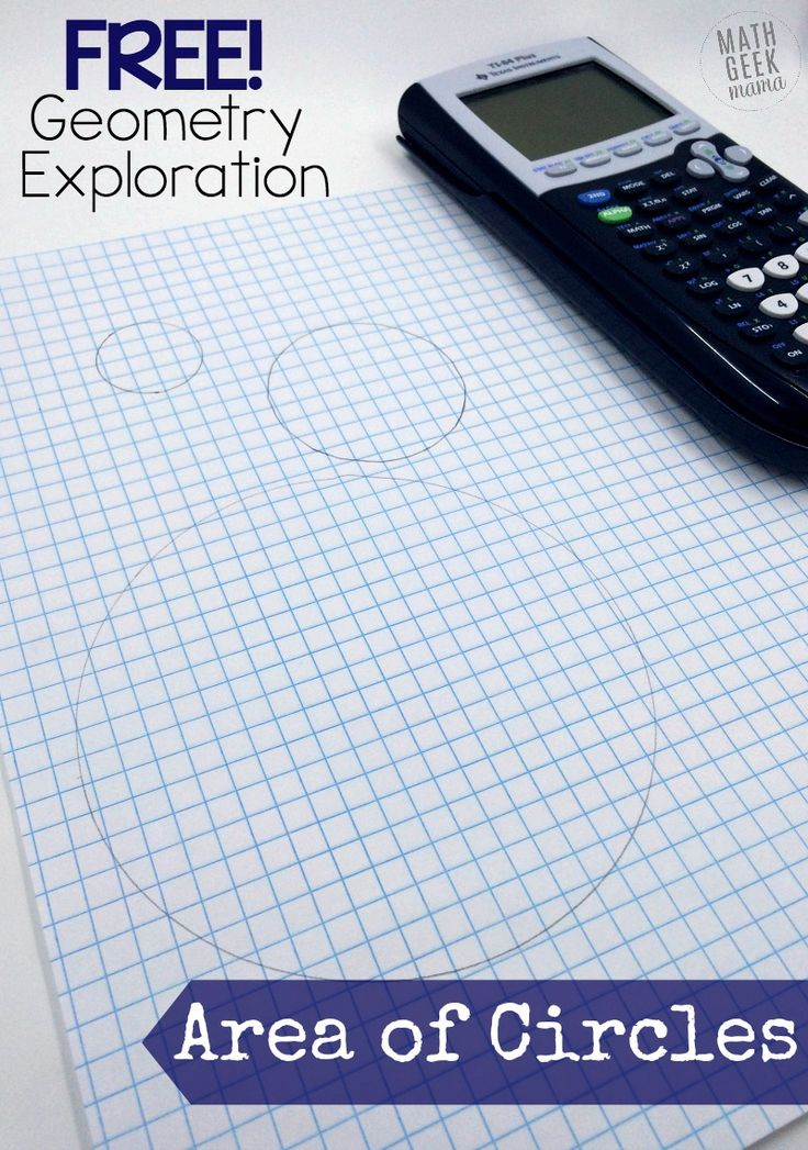 Help your students understand the area formula and explore circles with this fun, hands-on area of a circle activity! This is a great way to make a boring formula more engaging, and use a graphing calculator as an aid, rather than a crutch. Get if free today! http://mathgeekmama.com/area-of-a-circle-activity/?utm_campaign=coschedule&utm_source=pinterest&utm_medium=Bethany%20%7C%20Math%20Geek%20Mama&utm_content=Hands-On%20Area%20of%20a%20Circle%20Activity%20%7BFREE%7D