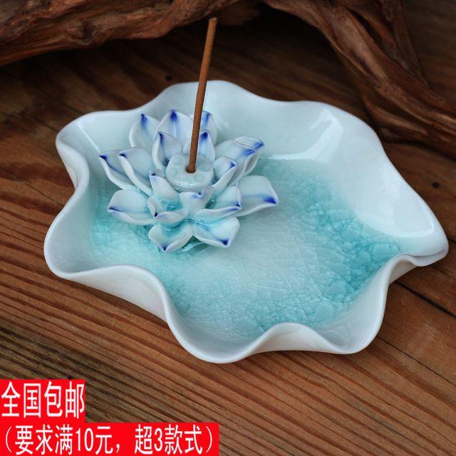 Moda personalizada con rey decoración quemador de incienso de loto placa hong cenicero regalo único