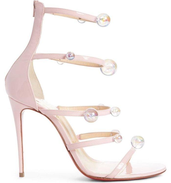 ea0455069a1d Christian Louboutin  Atonana  Ornament Sandals in Pompadour Patent Leather