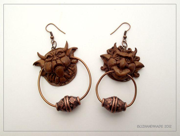 Labyrinth knocker earrings by buzhandmade on deviantART: The Doors, Door Knockers, Doorknock Earrings, Labyrinths Earrings, Ticking, Labyrinths Knockers, Doors Knockers, Knockers Earrings, Labyrinths Doors