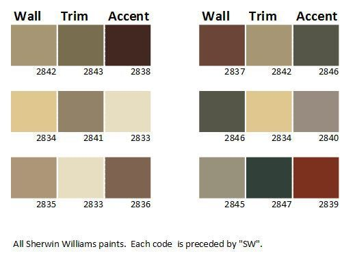 house+exterior+color+schemes | Craftsman House Color Palette - Sherwin Williams Paints