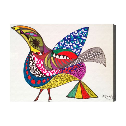 Oliver Gal Oliver Gal Bird Graphic Art on Canvas