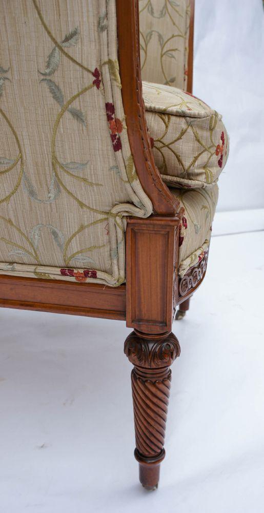 antique armchair leg detail