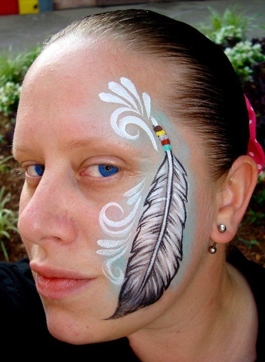 Native American Feather (Face Painting) by Catherine Pannulla