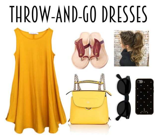 """""""Throw and go Dresses 👗"""" by ashworthjessica on Polyvore featuring Fendi and Kate Spade"""