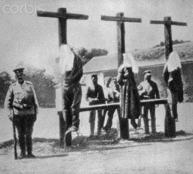 Spies Being Executed - UWW115INP - Rights Managed - Stock Photo - Corbis. ca. 1914.