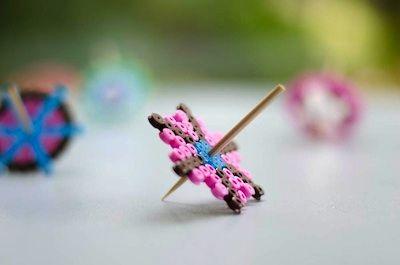 Badut hama bead craft spinning tops
