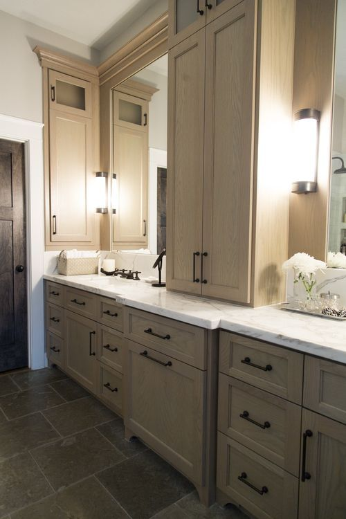 Before After A Confined Bathroom Is Uplifted With Bountiful Space Cabinets Countertops