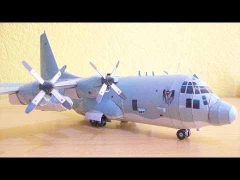 AC-130 Spooky Gunship Papercraft - YouTube