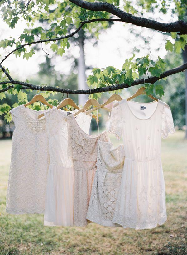 cream lace bridesmaid dresses // photo by Tec Petaja, design by Cedarwood Weddings // View more: http://ruffledblog.com/elegant-nashville-wedding/