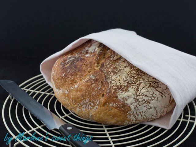 No Knead Bread - Brot aus dem Gusseisen-Topf