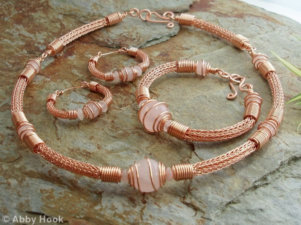 Torcesque Collection - Rose Quartz And Copper