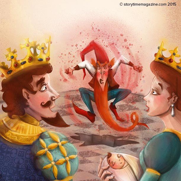 Angry little Rumpelstiltskin in Storytime Issue 11. Illustration by Richard Merritt (http://www.richard-merritt.com) ~ STORYTIMEMAGAZINE.COM