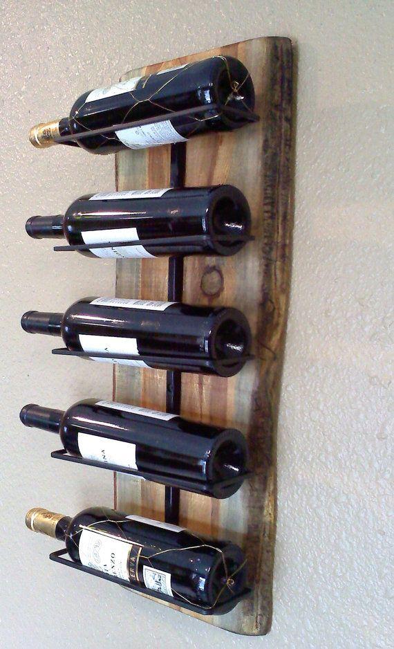wine rack that hangs on wall | Wall Hanging Wooden Wine Rack by AspenBottleHolders on Etsy