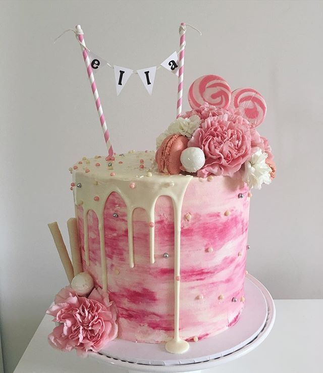 The 25 best Girl birthday cakes ideas on Pinterest Birthday
