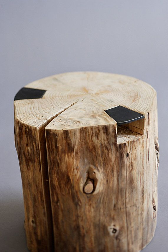 Hatchet Stool | Rustic Trunk Stool
